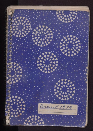 Cover of Cleofe Calderon's field book, Brasil 1974