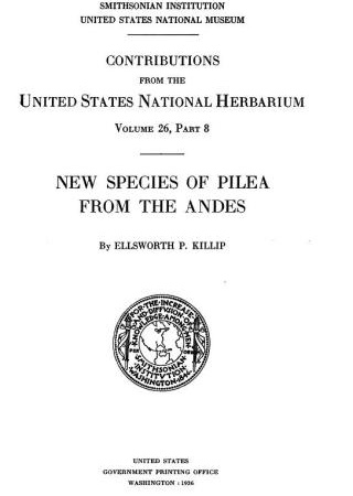 "Title page from ""Contributions from the United States National Herbarium v. 26, part 8"""