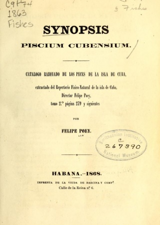 """Title page of """"Synopsis Piscium"""""""